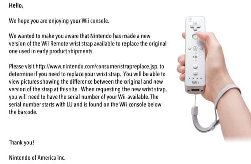 Nintendo Issues Mass Wii Strap Recall