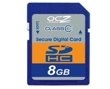 OCZ Technology Enhances SDHC Memory Family with New Speed Class 6 Rated Cards