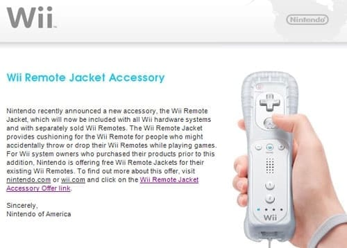 Nintendo Gives Out Free Wii Controller Jackets
