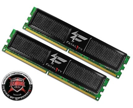 OCZ Technology Unveils First Fatal1ty Brand Memory