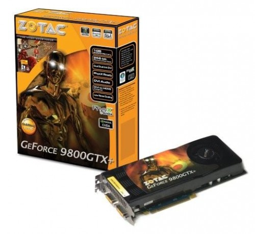 ZOTAC Launches 9800GTX+ Video Card With A Full Gigabyte of DDR3