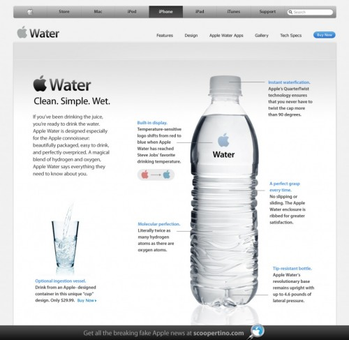 Apple Asks You To... Hydrate Different?