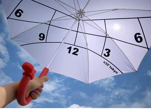 Avoid Ugly Tan Lines With the Clock Parasol