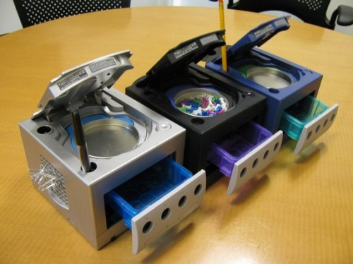 Nintendo GameCube Repurposed for Desktop Organization