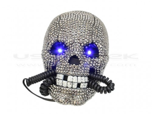 Still Have a Landline? How About a Diamond Skull Phone?