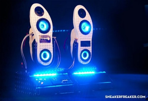 Dancing Shoes? Nope, Sneaker Speakers with Lights Too