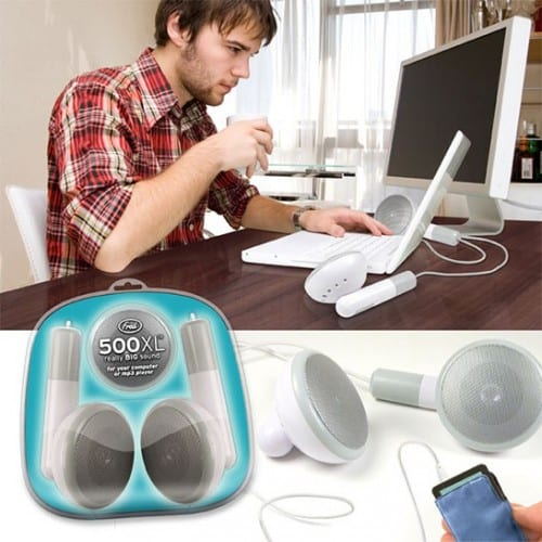 Rock the House With Some Giant Earbud Speakers