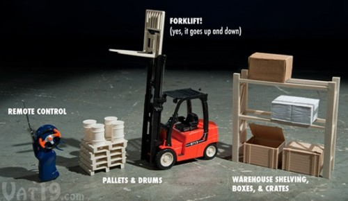 End Boredom At Your Desk With the R/C Mini Forklift Set