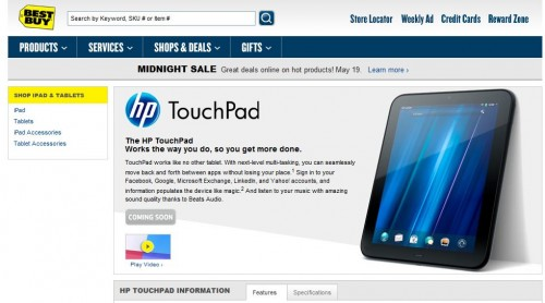 Best Buy Teases Us with HP TouchPad webOS Tablet