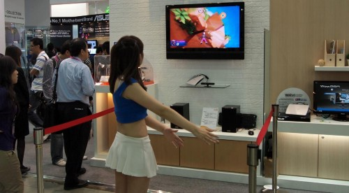COMPUTEX 2011 - Asus Wavi Xtion Kinect Clone Demo'd By Booth Babe (Video)