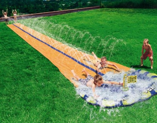Aqua Blast Dual Racing Slide Blows Slip 'N Slide Out of the Water