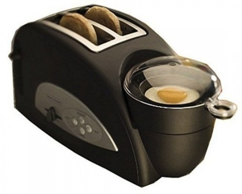 Egg-and-Muffin 2-Slice Toaster and Egg Poacher: One Stop Breakfast