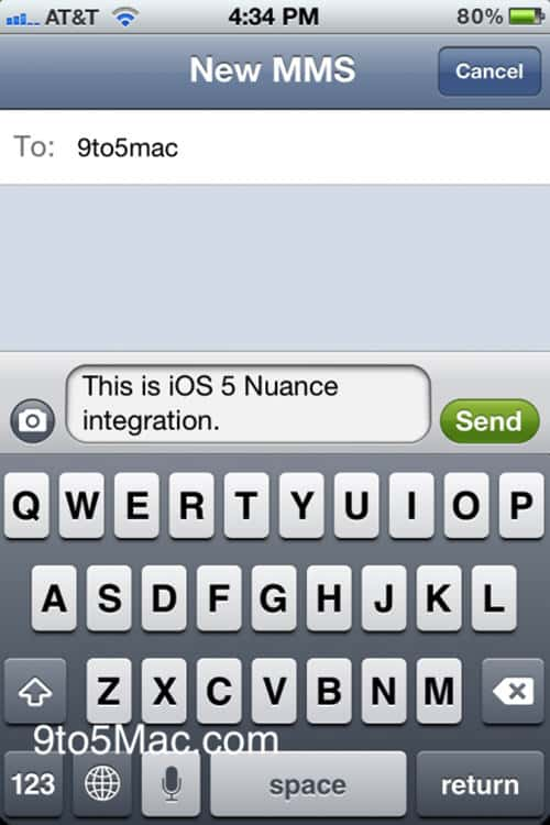 Apple Nuances Text Data Entry for iOS 5