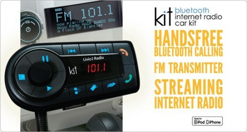 Smartphone + Bluetooth Internet Radio Car Kit = Music For Days