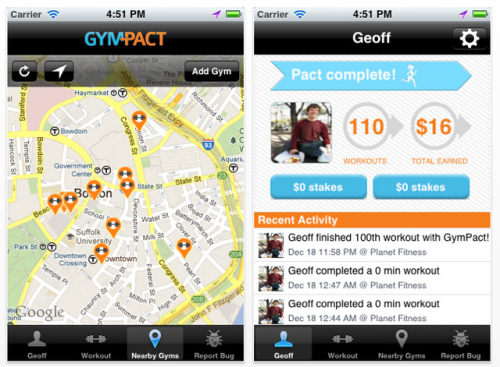 GymPact Adds Financial Incentive to Breaking Your Resolutions