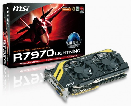 MSI Announces Next Generation R7970 Lightning Graphics Card