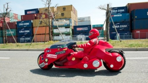 Akira Replica Bike Touring Japan For Charity