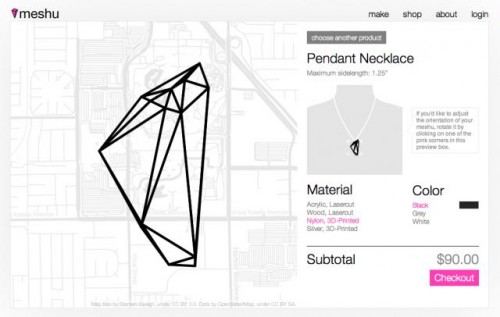 Immortalize Your Travels With Meshu Foursquare Jewelry