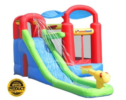 More Backyard Fun With the Inflatable Bounce House and Water Slide