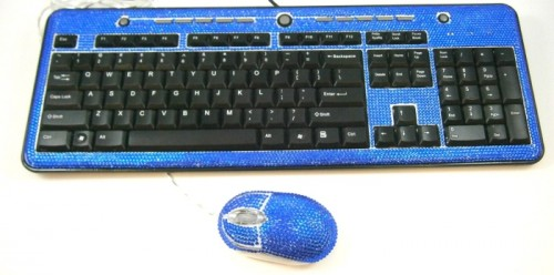 From the You Can't Make This Up Files: Rhinestone Keyboard and Mouse