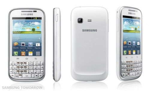 Samsung Galaxy Chat with ICS and Full QWERTY Keypad