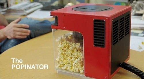 The Popinator Launches Popcorn Into Your Mouth via Voice Command