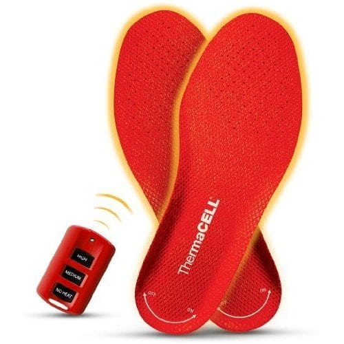 Keep Your Tootsies Toasty With ThermaCell Remote Controlled Heated Shoe Inserts