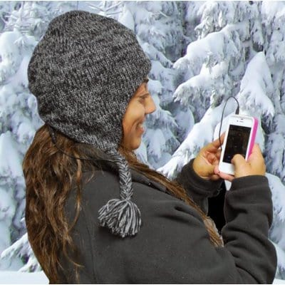 Aviator Knit Hat Keeps Your Ears Warm and Your Tunes Hot