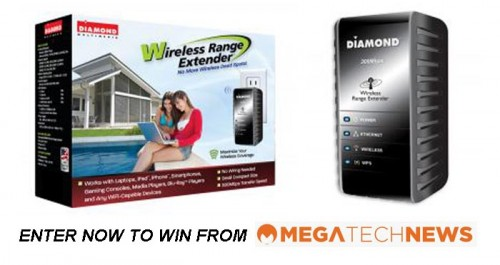CLOSED! MEGATech Weekly Giveaway 1 of 3: Win a Diamond Multimedia WR300N Wireless Range Extender