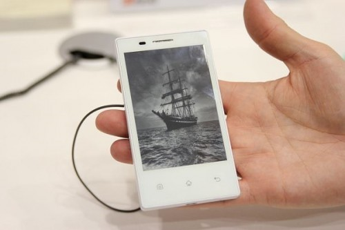 Full E-Ink Display Smartphone on Display at MWC 2013
