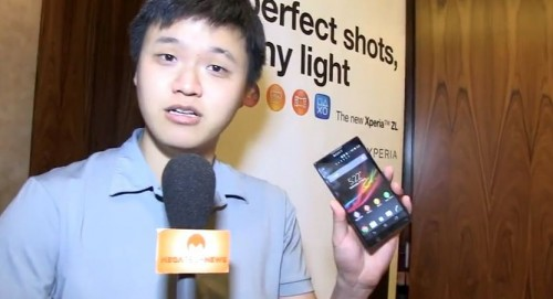 MEGATech Videos: Hands-On with the Sony Xperia ZL 5-Inch 1080p Android Smartphone