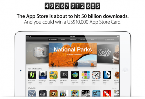 Apple Prepares to Celebrate the 50 Billionth App Download