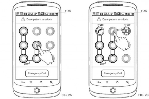 Patent: Android Pattern Unlock to Allow Easy App Shortcuts Too?