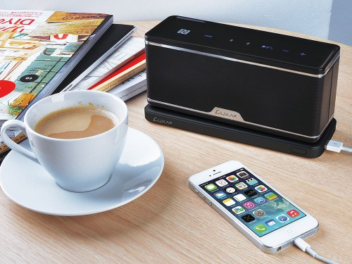 LUXA2 GroovyW Bluetooth Speaker with Wireless Charging Station-3