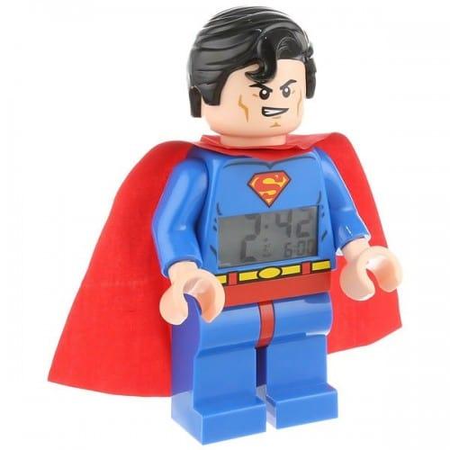 Lego-Minifigure-Superman-Clock