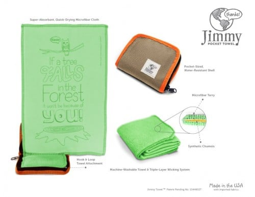 Jimmy Pocket Towel: The Most Important Item a Hitchhiker Can Carry
