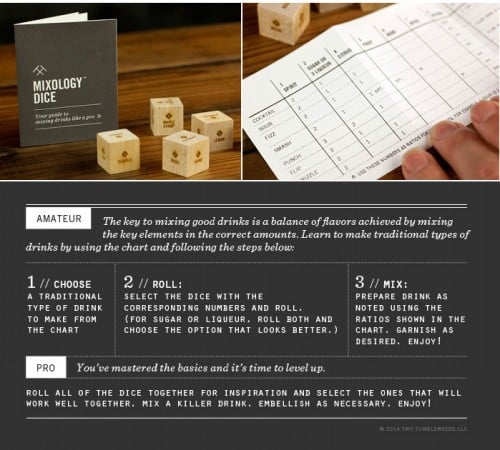 Mixology Dice: For Cocktail Creativity