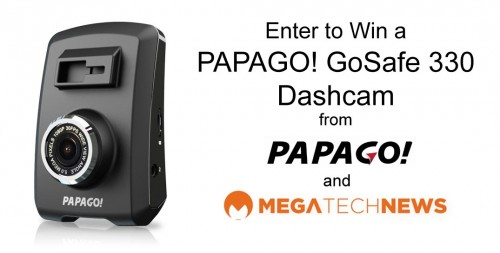MEGATech Giveaway: Win a PAPAGO! GoSafe 330 Dashcam