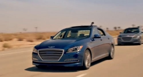 Sponsored: 2015 Hyundai Genesis Convoy Drives Itself to IIHS Safety Award