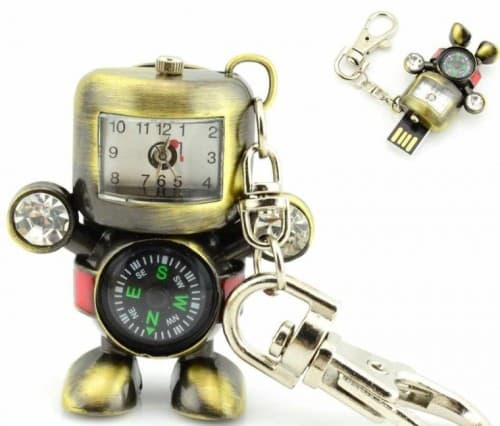 USB-Flash-Drive-with-Stainless-Steel-Robot-Time-Clock