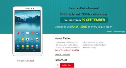 Huawei Honor Tablet Makes Phone Calls Too