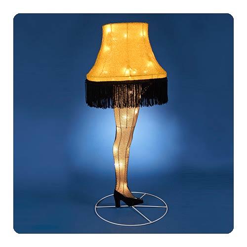 A-Christmas-Story-Leg-Lamp-28-Inch-Light-Up-Tinsel-Display