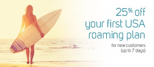 Roam Mobility Offering 25% Off First Time USA Roaming Plan