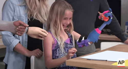 Enabling the Future Gives Little Girl 3D-Printed Pink and Purple Arm