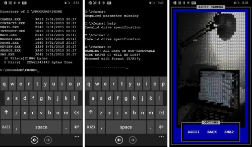 Download an Official MS-DOS Windows Phone App as an April Fools' Prank