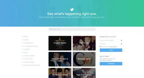 Twitter.com Gets an Information Portal Redesign