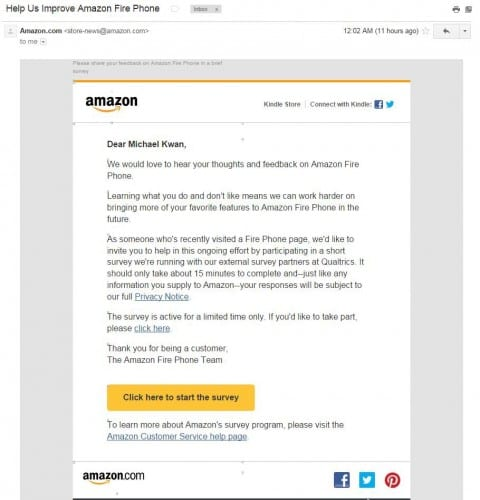 Amazon Prepping Second-Gen Fire Phone, Taking Feedback