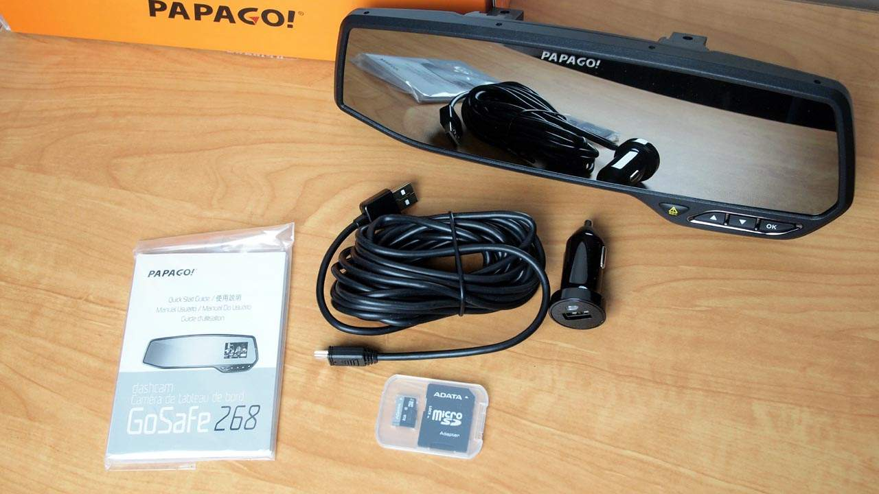 MEGATech Reviews: PAPAGO! GoSafe 268 Rearview Mirror HD Dashcam