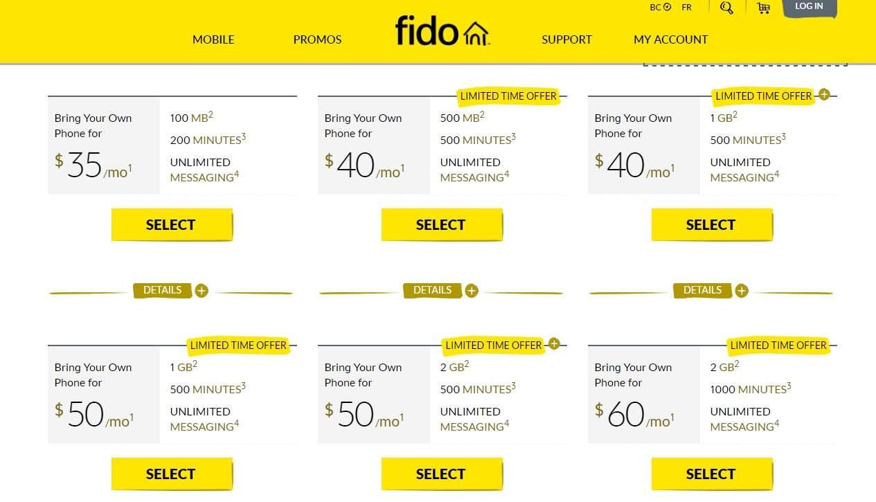 Get Double Data from Fido and Virgin for Free