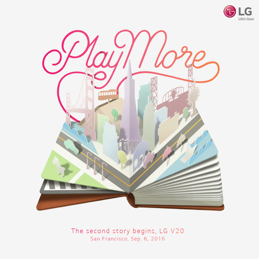 "LG V20 Ready to ""Play More"" on September 6"